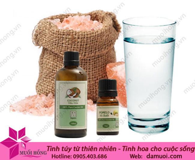 Giải pháp chống tóc gãy rụng với muối hồng thiên nhiên và dầu dừa_3